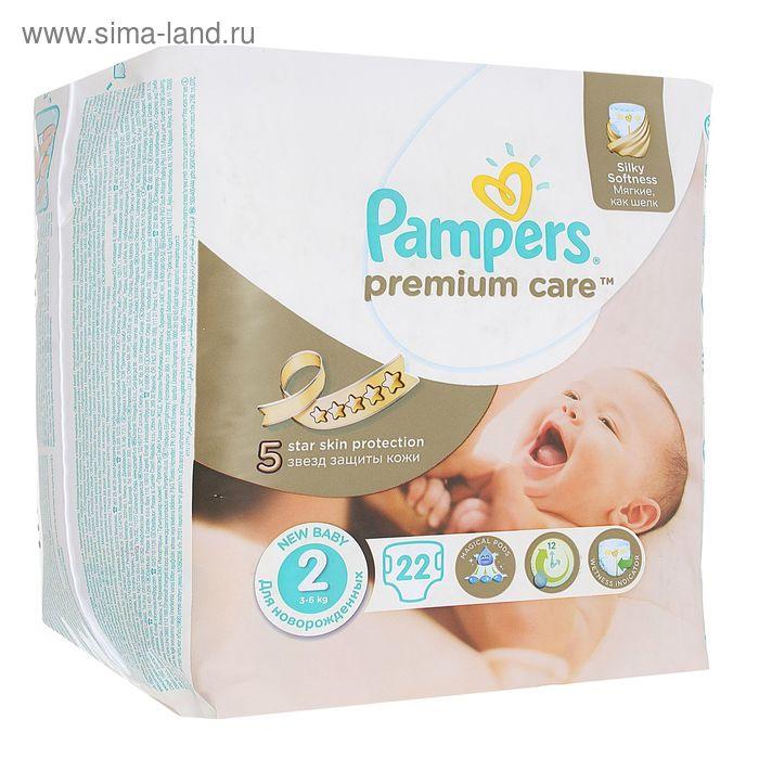 Подгузники «Pampers» Premium Care, Mini, 3-6 кг, 22 шт/уп