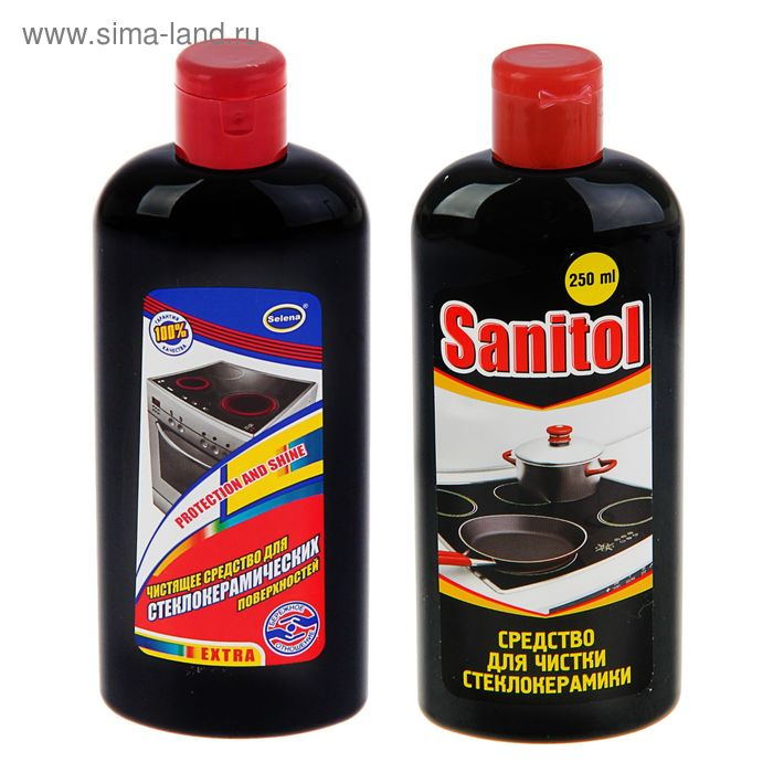 Средство для чистки стеклокерамики Sanitol, 250 мл