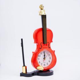 Будильник серия Музыка. Скрипка с пюпитром 10*27см