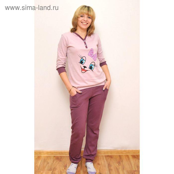 Комплект женский (фуфайка, брюки) ТК-500, цвет микс, размер 56, интерлок