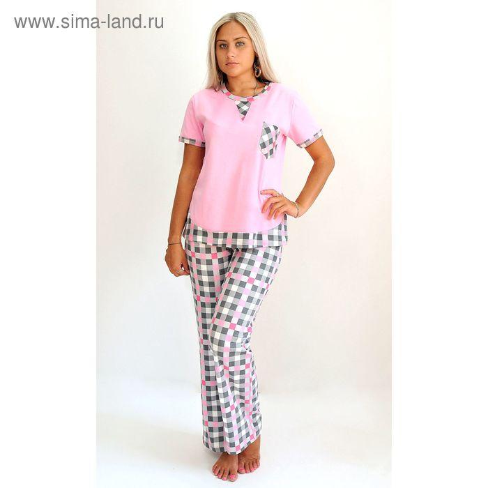Комплект женский (футболка, брюки) ТК-553 МИКС, р-р 50  интерлок