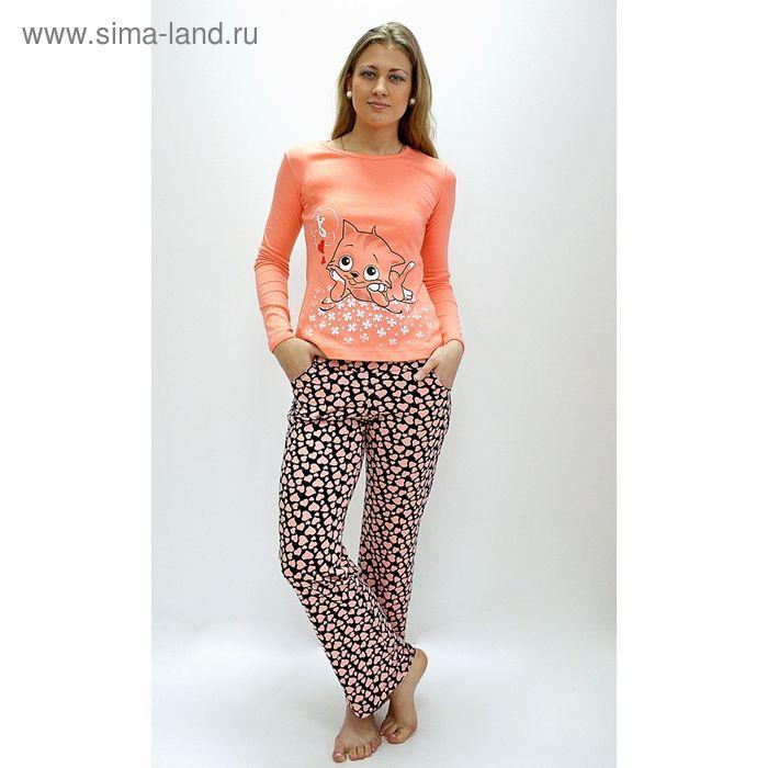 Комплект женский (фуфайка, брюки) ТК-591 МИКС, р-р 54  интерлок