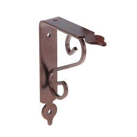 Кронштейн декоративный, тип 2, 110х140 мм, коричневый