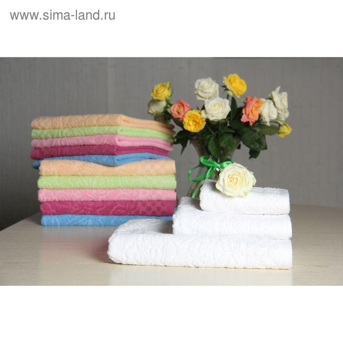 """Полотенце махровое """"Этель"""" Фарфалле белый 50*90 см, 100% хлопок, 400гр/м2"""