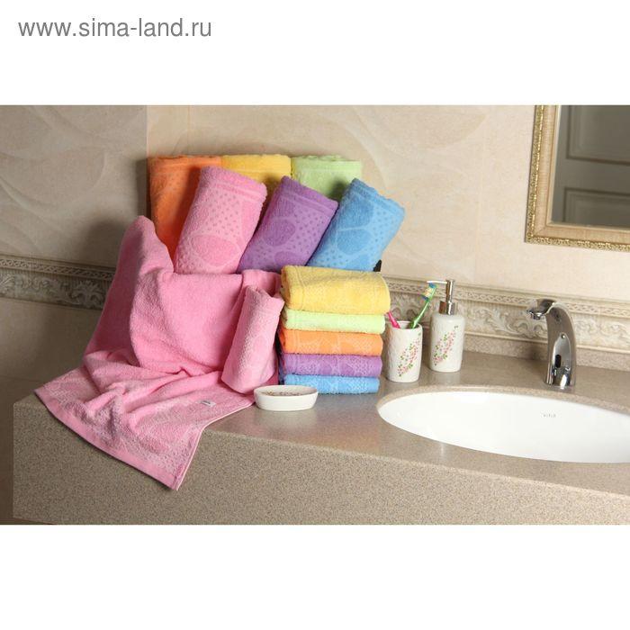 """Полотенце махровое """"Этель"""" Ариа розовый 30*70 см, 100% хлопок, 400гр/м2"""