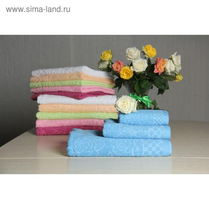 """Полотенце махровое """"Этель"""" Фарфалле голубой 30*70 см, 100% хлопок, 400гр/м2"""