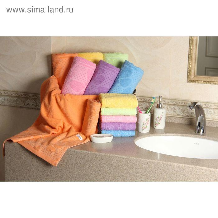 """Полотенце махровое """"Этель"""" Ариа оранжевый 50*90 см, 100% хлопок, 400гр/м2"""