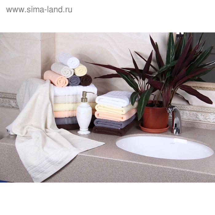 """Полотенце махровое """"Этель"""" Гармония кремовый 30*70 см, 100% хлопок, 400гр/м2"""