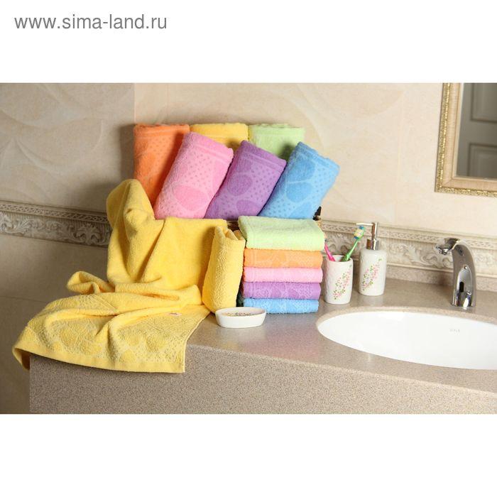 """Полотенце махровое """"Этель"""" Ариа желтый 50*90 см, 100% хлопок, 400гр/м2"""