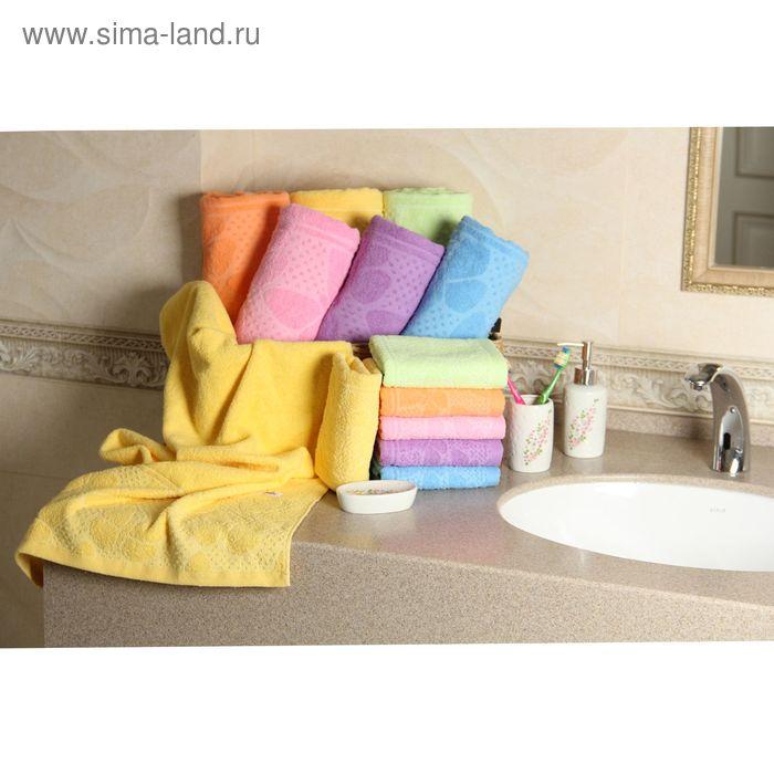 """Полотенце махровое """"Этель"""" Ариа желтый 30*70 см, 100% хлопок, 400гр/м2"""