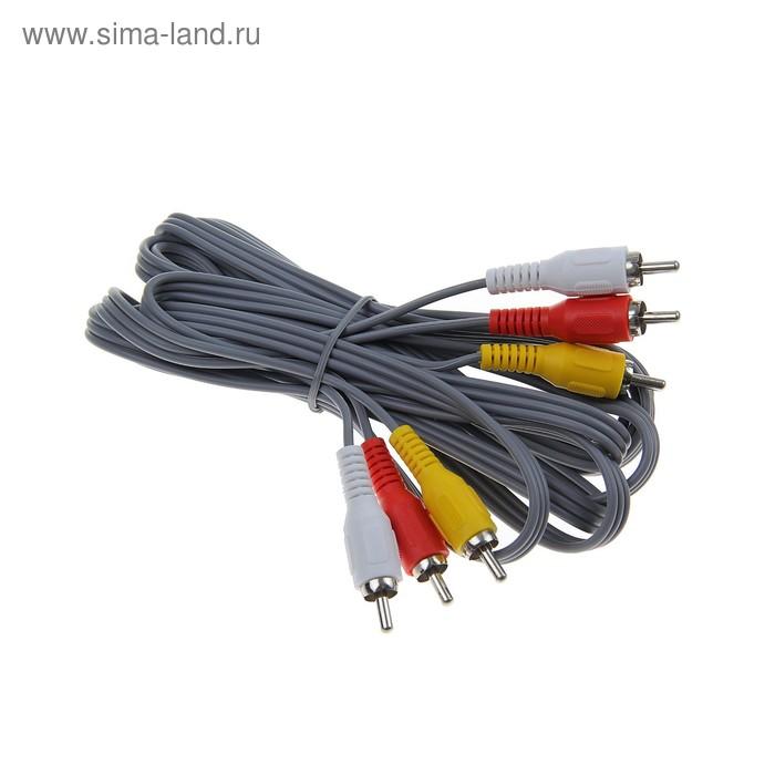 Кабель Smartbuy 3xRCA (M) - 3xRCA (M), 3 м, пакет