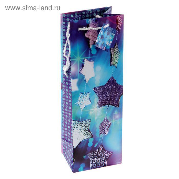 """Пакет подарочный под бутылку """"Футаж"""", 12 х 36 х 8.5 см"""