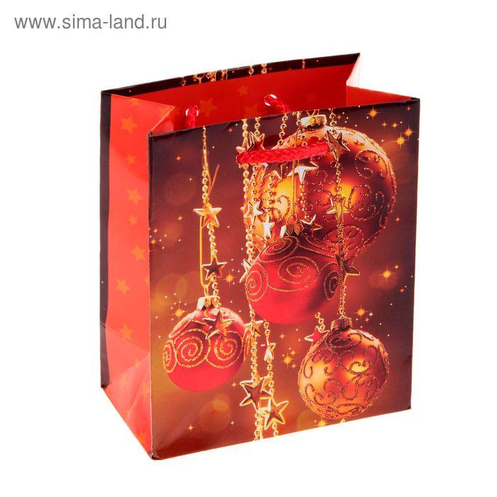 """Пакет подарочный """"Красное золото"""", 11.5 х 14.5 х 6.5 см"""