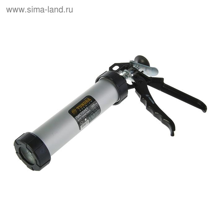 Пистолет для герметика TUNDRA premium, закрытый, круглый шток, 225 мм