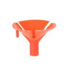 Держатель-зажим для шаров, отверстие 0,5 см, d=3,5 см, цвет оранжевый