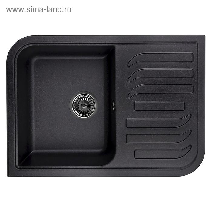 Мойка кухонная гранитная Granula 7001, чёрная