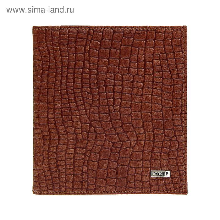 Визитница, 2 ряда, 36 листов, скат, коричневый