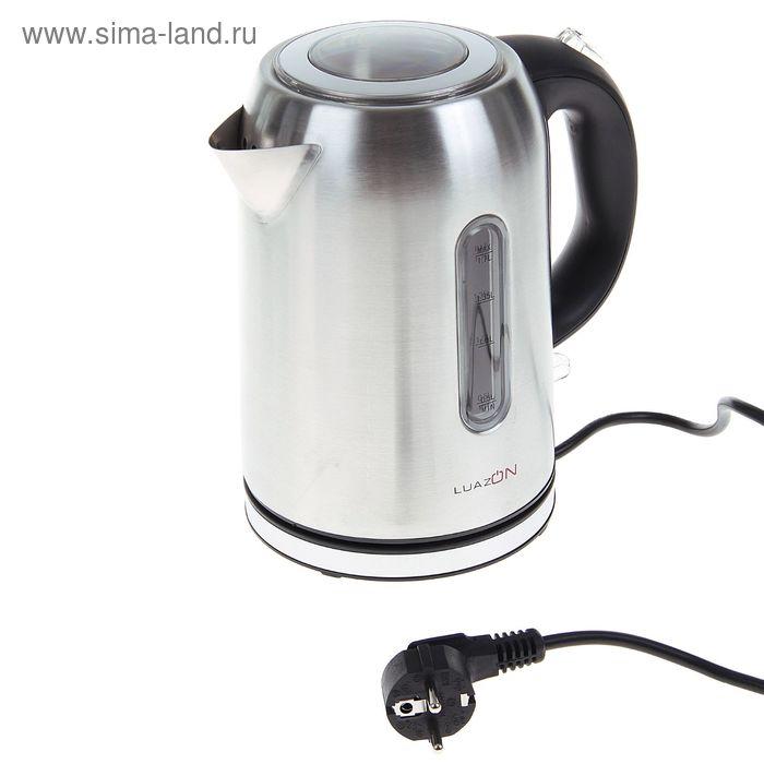 Чайник электрический LuazON LMK-1701, 1.7 л, 2200 Вт, металл