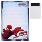 """Блок для записей с магнитом """"Идеи супергероя"""", Человек-Паук, 40 листов"""