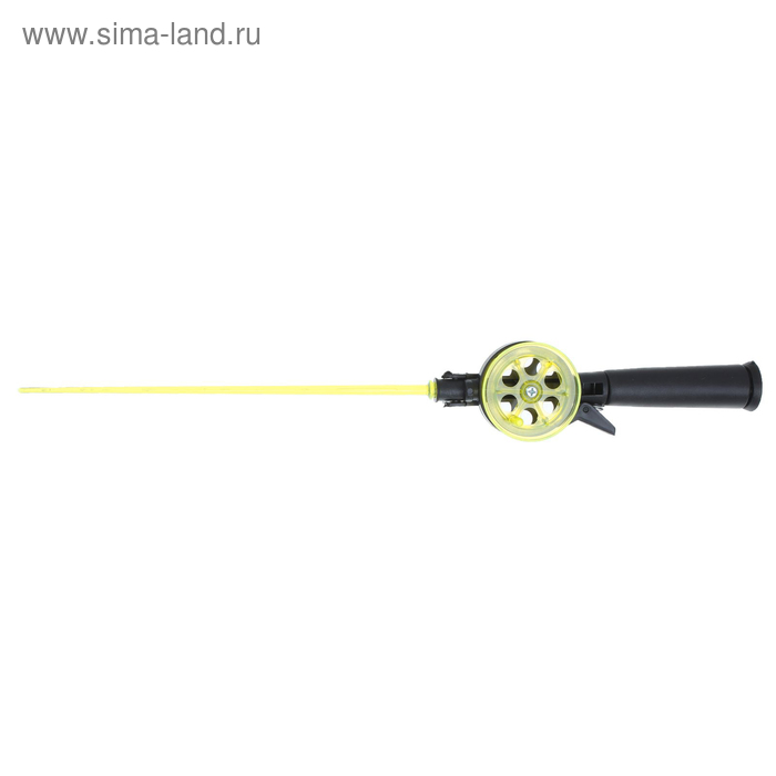 "Удочка зимняя ""Техно"" d=55 мм, ручка пластик, хлыст поликарбонат, цвет жёлтый"