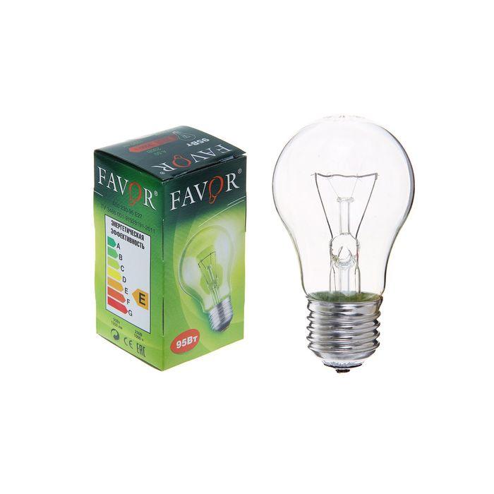 Лампа накаливания Favor Б, Е27, 95 Вт, 230 В