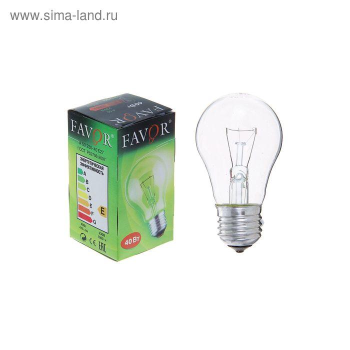 Лампа накаливания Favor Б, Е27, 40 Вт, 230 В