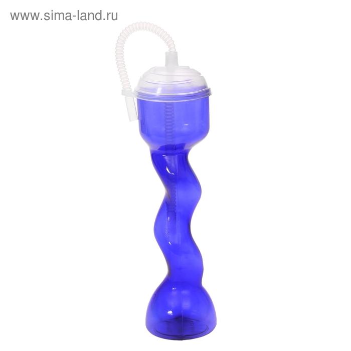 """Стакан пластиковый с трубочкой """"Зигзаг"""" 600 мл,"""