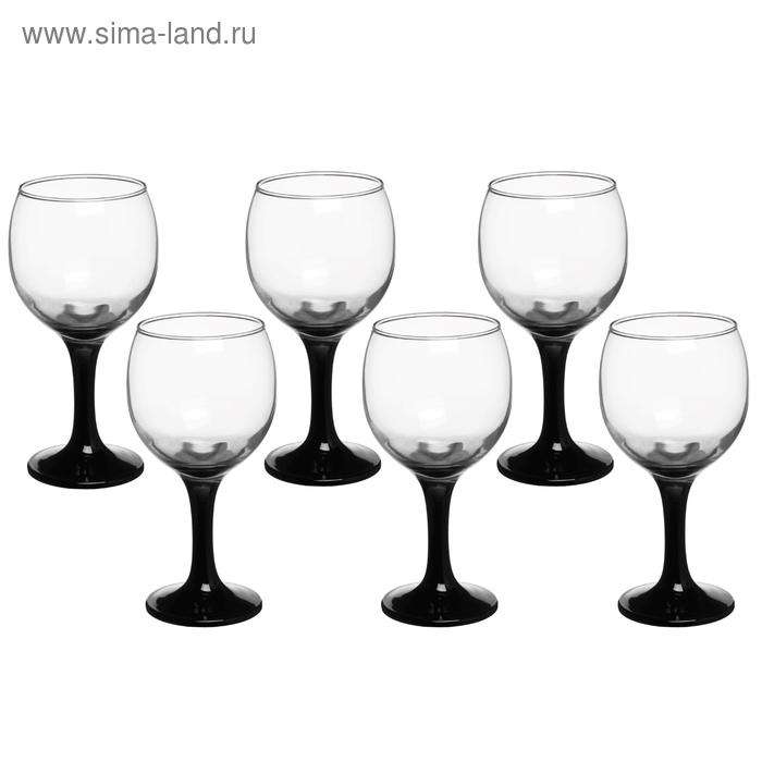 """Набор бокалов для вина 200 мл """"Черная ножка"""", 6 шт"""