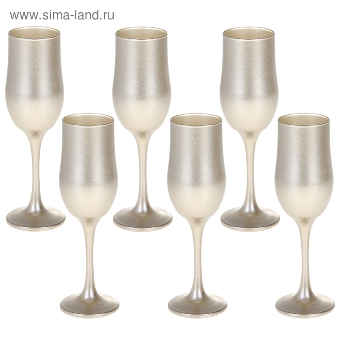 """Набор бокалов для шампанского """"Люстр"""", 6 шт 200 мл"""