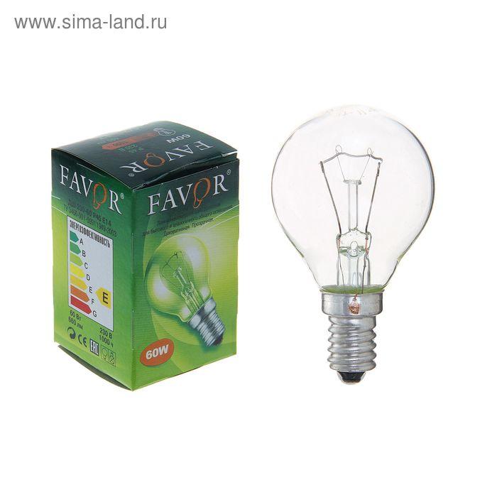 Лампа накаливания Favor ДШ, Е14, 60 Вт, 230 В