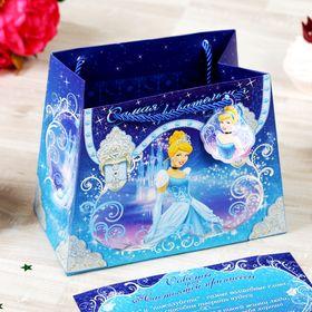 """Пакет-сумка """"Самая очаровательная"""", Принцессы, +""""Советы для принцессы"""""""