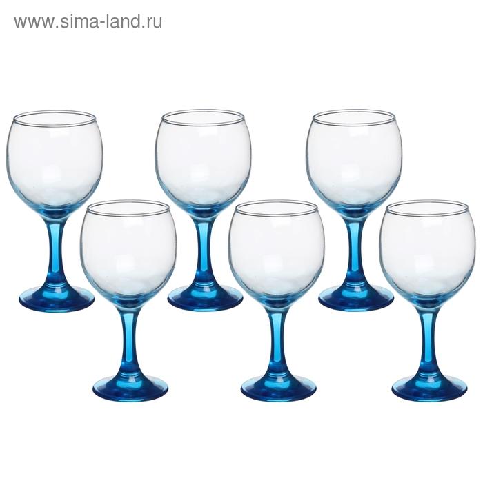 "Набор бокалов для вина 200 мл ""Синяя ножка"", 6 шт"