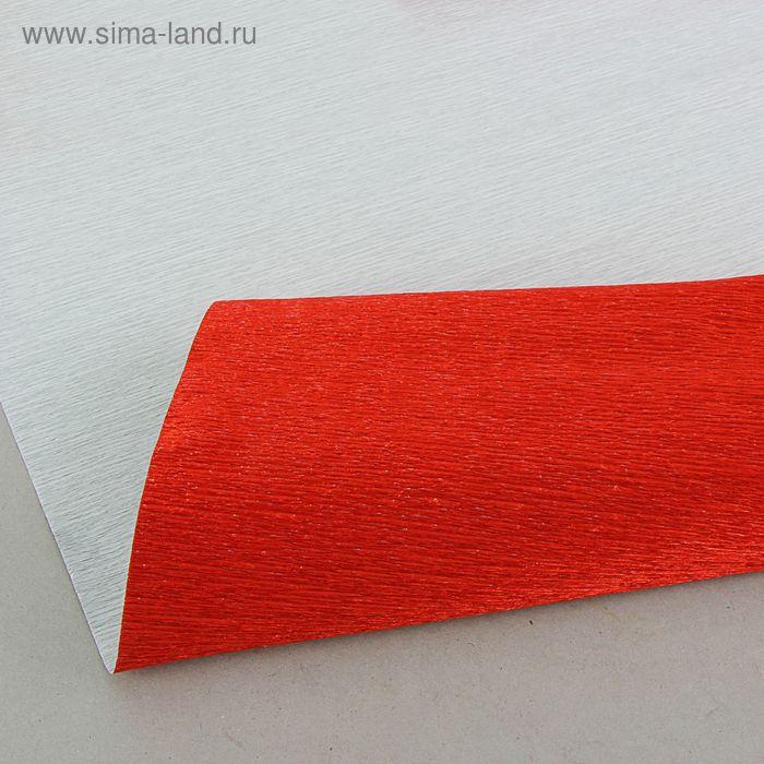 """Бумага гофрированная, 803 """"Тёмно-красный, металл"""", 0,5 х 2,5 м"""