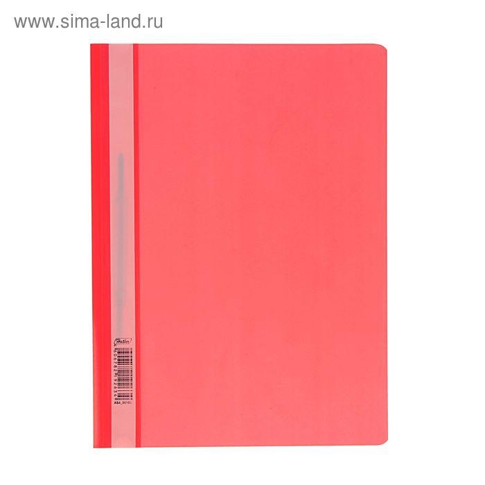 Папка-скоросшиватель А4, 140/180мкм Hatber, красная