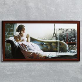 Часы-картина настенные 'Рассвет в Париже', 50х100 см  микс Ош