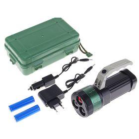 Фонарик светодиодный Finder Zoom с ручкой, 3 режима, 3 сменных цвета, чёрный Ош