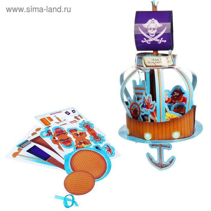 """Конструктор из картона и 3D-театр """"Пираты"""" подвесной"""
