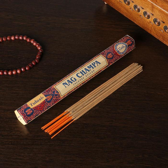 Благовония шестигранник Sarathi Nag Champa Наг Чампа 15 палочек в упаковке