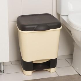 Контейнер для мусора 20 л с педалью, цвет МИКС