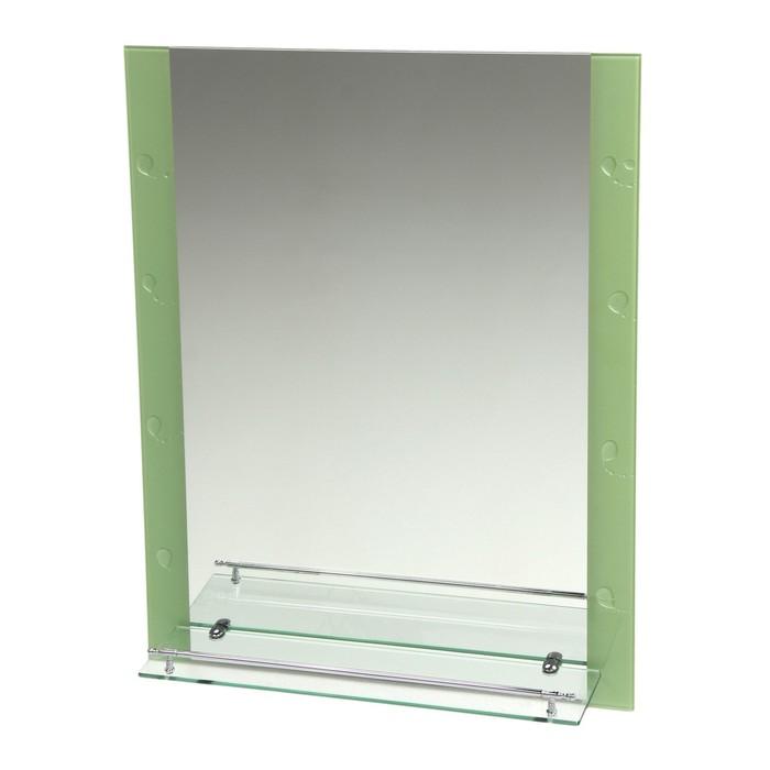 Зеркало в ванную комнату Ассоona A606, 800 х 600 мм, 1 полка