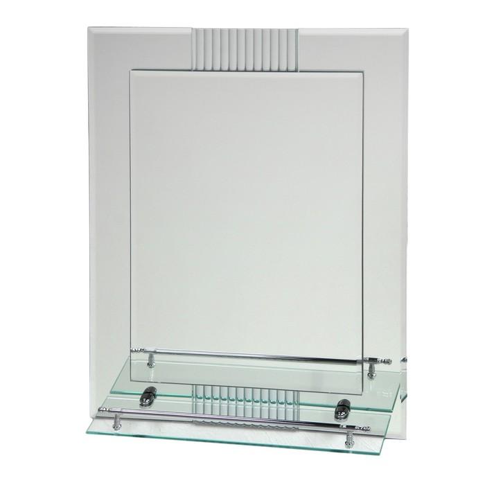 Зеркало в ванную комнату Ассоona A617, 600 х 450 мм, 1 полка, двухслойное