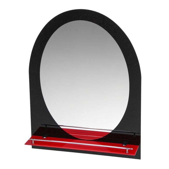 Зеркало в ванную комнату Ассоona A621, 800 х 600 мм, 1 полка