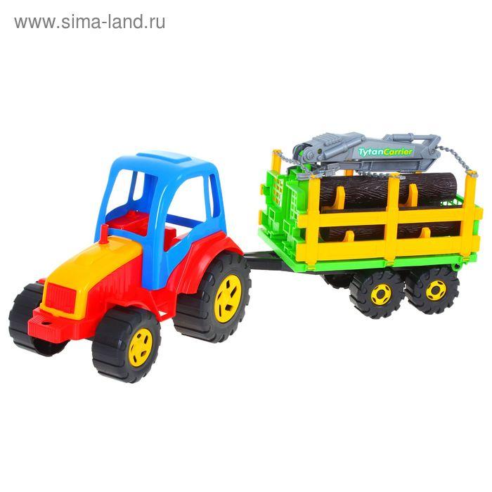 Трактор с брёвнами Tytan