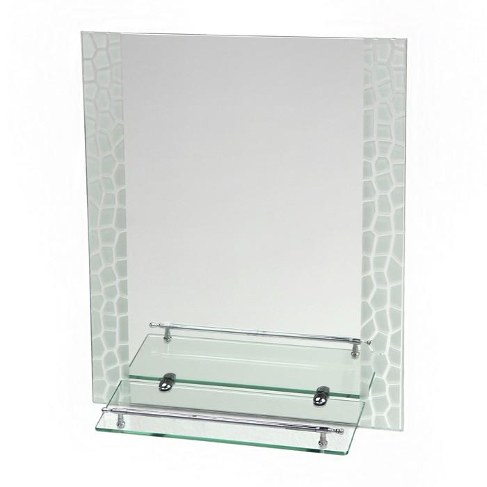 Зеркало в ванную комнату Ассоona A625, 600 х 450 мм, 1 полка