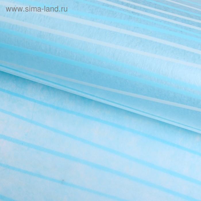 "Пленка ""Линии"", цвет голубой, 60 х 60 см"