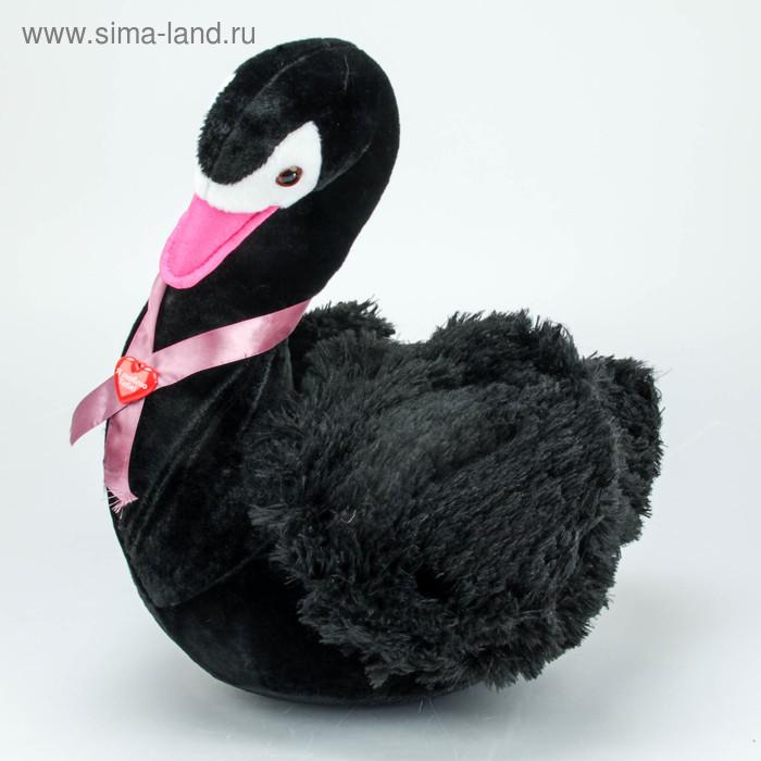 """Мягкая игрушка """"Лебедь"""" черный"""