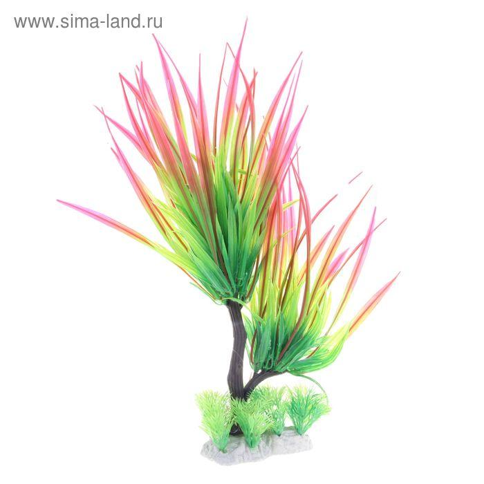 Растение искусственное аквариумное Людвигия дугообразная, 30 х 12 х 30 см
