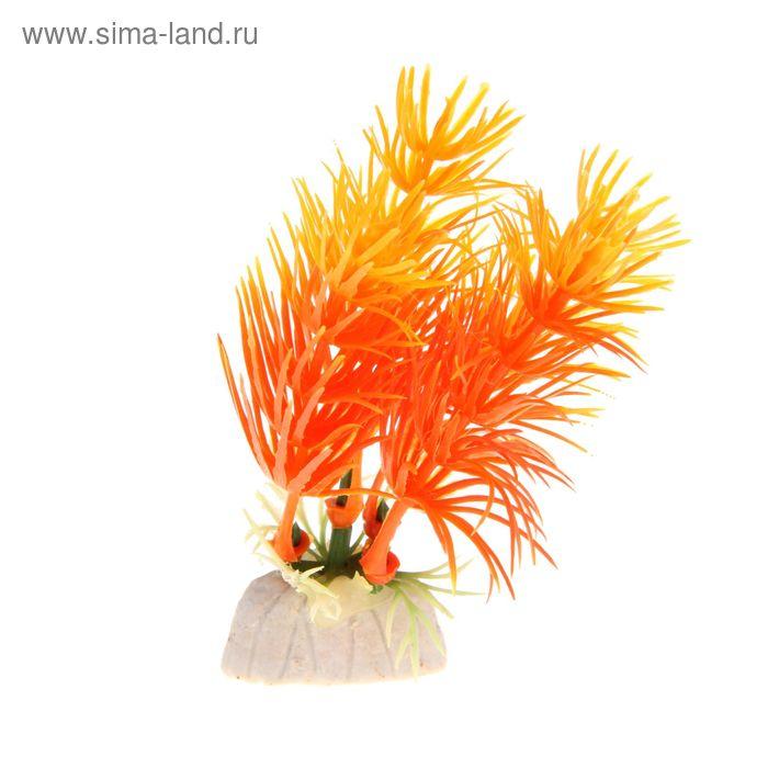 Растение искусственное аквариумное Красный перистолистник, 10 см
