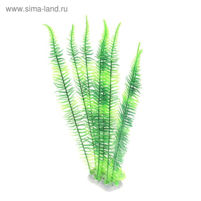 Растение искусственное аквариумное высокое Папоротник, 27 х 7 х 43 см
