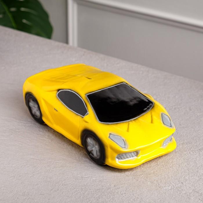"""Копилка """"Машина мечты"""" жёлтая"""